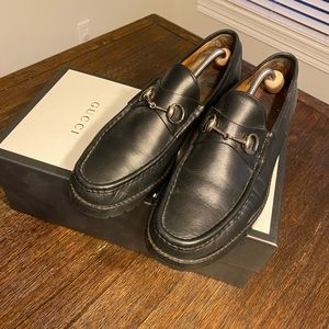 Men's Gucci Leather Moccasins (Size 12)